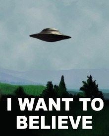 The X-Files' I Want to Believe poster